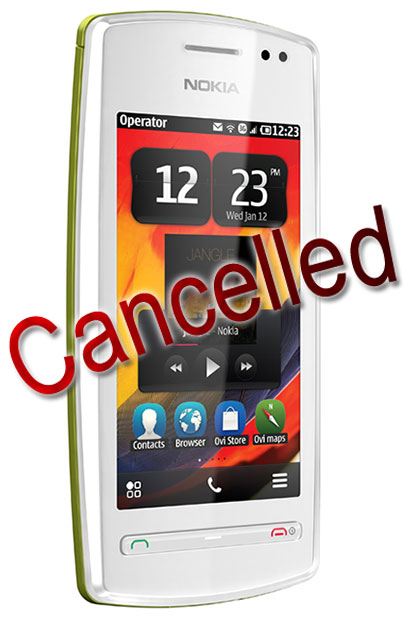 Nokia 600 Cancelled