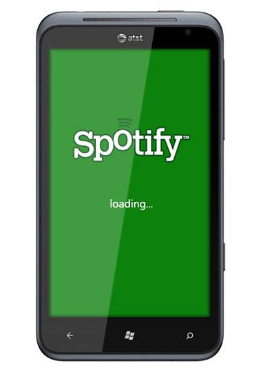 Spotify on Windows Phone Mango