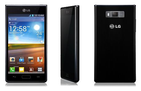 LG Optimus L7 ( Front, Side och Back)
